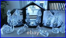 Princess House 15-pc Nativity Set Lead Crystal