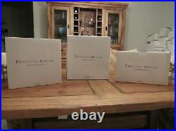 Princess House Heritage 6276A 6276B 6276C Curved Crystal Picture Frame Set of 3