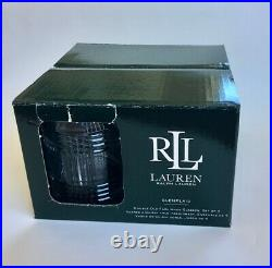 RALPH LAUREN GLEN PLAID SET OF 4 CRYSTAL DOUBLE OLD FASHIONED GLASSES Germany