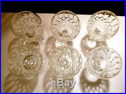 RARE Waterford Crystal Set of 6 Oversize Balloon Wine Hocks 8 16 ounces
