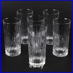 RCR Italian Crystal Fire Highball Glasses / 370ml Hi Ball Tumblers, Set of 6
