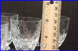 ROGASKA CRYSTAL GALLIA Cordial wine GLASSES 5 goblets stemware SET 6 etched