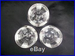 Ralph Lauren Crystal Glen Plaid Wine Glasses Set of 3