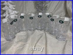 Ralph Lauren Ettrick Highball Crystal Tumbler Set of 8 NEW 11.6oz From Germany