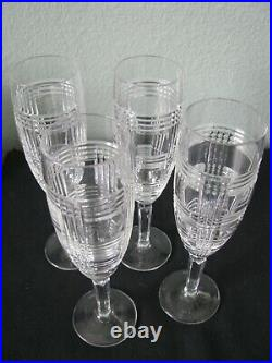 Ralph Lauren Glen Plaid Champagne Flute Glass Set of Four