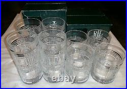 Ralph Lauren Glen Plaid Highball & Double Old Fashioned Crystal Glasses, Set of 8