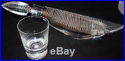 Rare BACCARAT EMPREINTE DECANTER & 6 GLASS SET CRYSTAL 16.5 Long