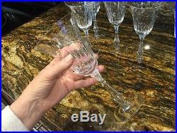 Rare Vintage Cut Crystal Wine Glasses (set Of 6)