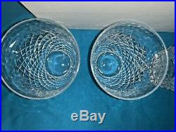Retired Set 4 Signed Waterford Crystal Alana 1952 Art Glass 5 Flat Tumblers