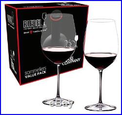 Riedel Sommeliers Bordeaux Grand Cru 2 Piece Wine Glass Value Set 2440/00 NEW
