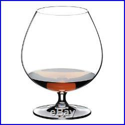 Riedel Vinum Cognac Glass Brandy Snifter Crystal Glassware Set of Six Glasses