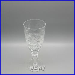 Rogaska Crystal GALLIA Flute Champagne Glasses SET OF SIX