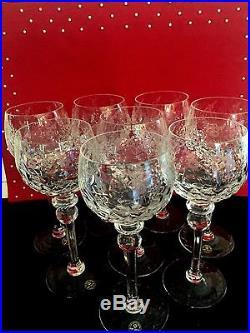Rogaska Gallia Cut Crystal Lot of 4 Wine Hocks 8 High 2 Sets Available