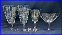 Rosenthal Maytime crystal stemware. 8 4-piece place settings. 1 lost. 31 pieces