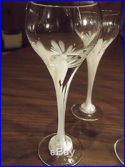 Rosenthal crystal set of 8 liquor/cocktail glasses snowflower pattern