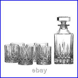 Royal Doulton Seasons Crystalline Whiskey Decanter Set Decanter + 6 Tumblers