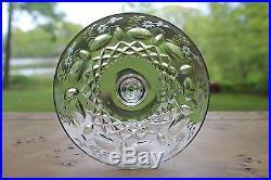 Set 10 Rogaska Cut Glass Large Gallia Champagnes