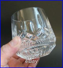 SET 4 WATERFORD CRYSTAL Cut LISMORE Roly Poly Rocks Glasses Tumblers 9 oz XC
