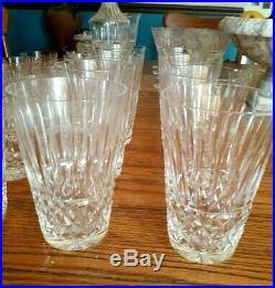 SET/ 4 WATERFORD crystal Tramore MAEVE cut 12 oz 5 HIGHBALL TUMBLER glass LOT
