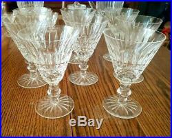 SET/ 8 WATERFORD crystal TRAMORE/ MAEVE goblet CLARET WINE stem glass LOT 5 1/4