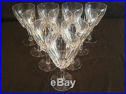 Set Of 10 Stuart Crystal England Claridge Water Goblet Glasses