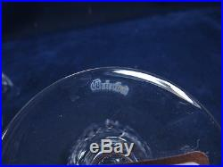 Set Of 6 Waterford Crystal Alana Pattern Clear Cut Claret 5 7/8 Wine Glasses