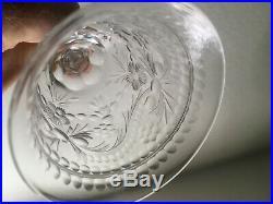 SHORT SALE SET 4(four) Antique T. Webb cut crystal wine English stemware