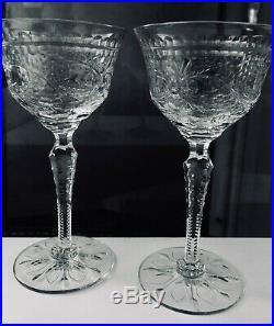 SHORT SALE SET 4(four) Antique Thomas Webb cut crystal wine English stemware