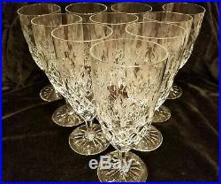 STUNNING SET/10! Rogaska Gallia Crystal Iced Tea Glasses CUT STEMS/FLORAL 8TALL