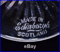 Superb Set Of 6 Edinburgh Scotland Thistle Pattern Crystal Wine Liqueur Glasses