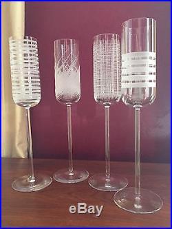 Salviati Venezia Crystal Champagne Flutes (set of 4)