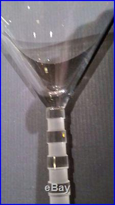 Salviati Venezia New Bassorilievi Cocktail Martini Gift Set Italian Crystal Box