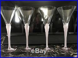 Sasaki Aegean Crystal Wine / Champagne Glasses Set Of 8 Pink