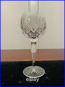 Set 10 True Vintage Signed WATERFORD CRYSTAL Lismore Wine Hocks Goblets Glasses