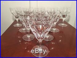 Set 11 Vintage Signed VAL ST LAMBERT Riviera Crystal Wine Water Goblets Glasses