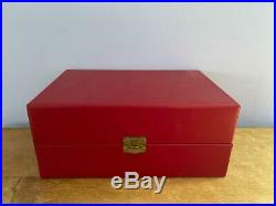 Set 2 Cartier 5.5 Crystal Brandy Cognac Snifters Red Box Blue Velvet Brierley