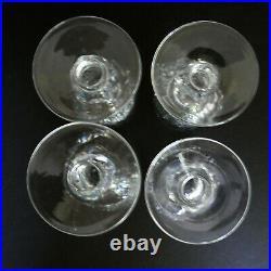Set 4 Waterford Crystal Colleen Cordial Glasses Short Stem Ireland Vtg Multiples
