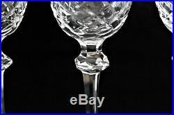 Set 4 Waterford Ireland Crystal Claret Red Wine Goblet 7 1/8 Powerscourt