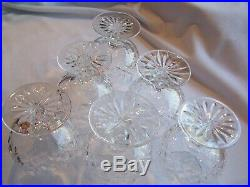 Set 6 Excellent Signed Waterford Crystal Of Ireland Lismore Brandy Glass Sniffer