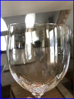 Set/ 6 MIKASA STEPHANIE Wine Glasses 7.5 Water Goblets Clear Crystal Optic EXCL