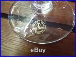 Set 6 Rogaska Gallia 9 1/4 Cut Etched Crystal Glass Wine Water Goblets Stem