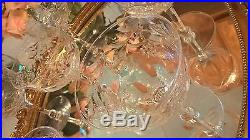 Set 8 Crystal Champagne/Tall Sherbets Seneca ANNIVERSARY Stemmed Glasses