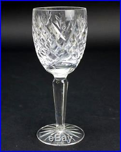 Set 8 Signed WATERFORD Deep Cut Irish Crystal DONEGAL White Wine Glasses NR JNX