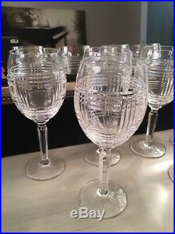 Set Of 2 Ralph Lauren Crystal GLEN PLAID 8 1/4 Wine Glasses (2 sets Available)