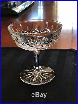 Set Of 9 Vintage Waterford Crystal Lismore Champagne \ Sherbet Glasses