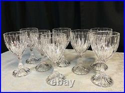 Set Of Eight Mikasa Crystal Park Lane Wine Glasses Goblets 6 3/8