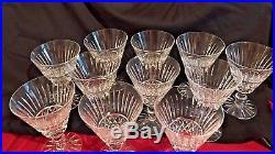 Set Of12 55/8 Waterford Irish Crystal Tramore Vintage Goblet/ Wine Glasses