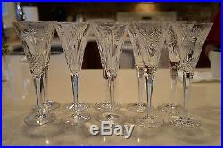 Set of 10 Waterford Crystal Champagne Flutes Glasses Millennium Universal Wishes