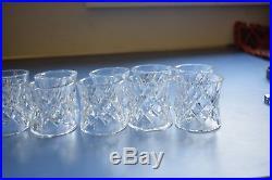 Set of 10 Waterford Crystal Napkin Rings