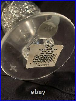 Set of 10 Waterford crystal Colleen pattern Ice Tea Glasses Some With Tags